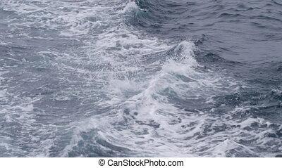 Ocean's unstable current - A full shot of the ocean's water...
