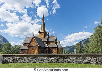 the stave church in Lom - Lom stave church (Lom stavkyrkje)...