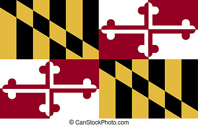 Maryland USA flag