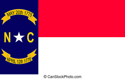 North-Carolina - North Carolina USA flag