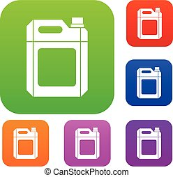Plastic jerry can set collection - Plastic jerry can set...