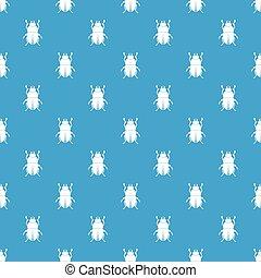Bug pattern seamless blue