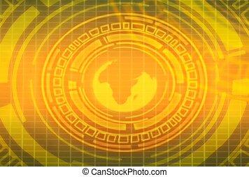circular, globe, information