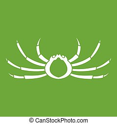 Japanese spider crab icon green