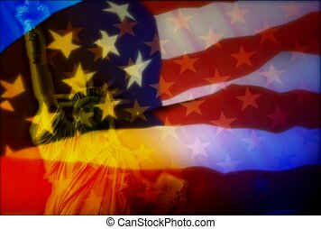 American flag, star,spirit, national pride