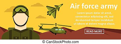 Air force army banner horizontal concept