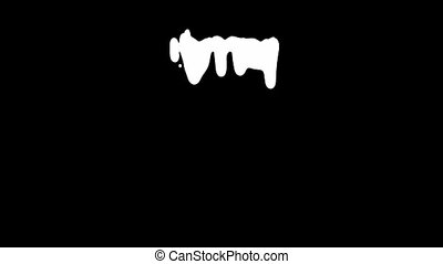 White Ink Dripping Over Black Screen Background - White ink...