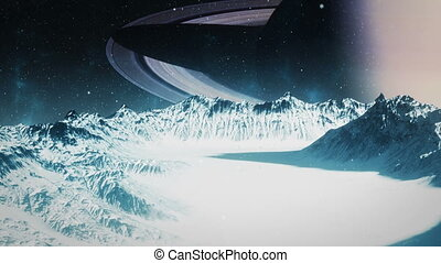 Icy Moon - Saturn - High quality animation of an icy moon...