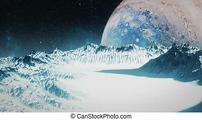 Icy Moon - Jupiter - High quality animation of an icy moon...