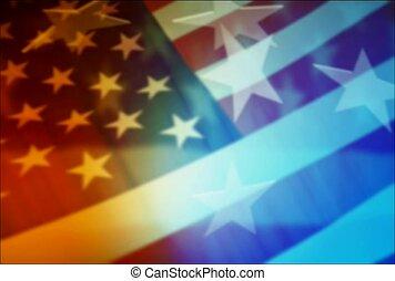 American flag, symbol, spirit