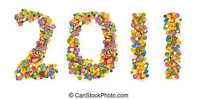 2011 made of confetti