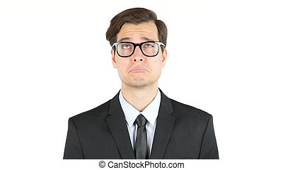 Tired and sad businessman, fired