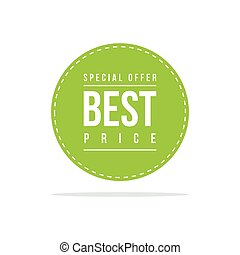 Special offer sale best price label