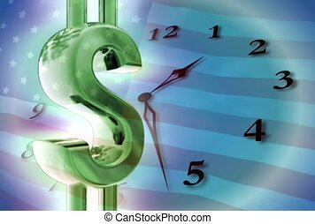 finance, time is money, clock