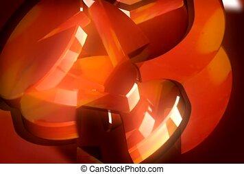 orange, wedge, piece
