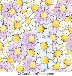 Background of multi-colored daisies - Beautiful background...