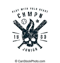 Emblem of baseball championship. Graphic design for t-shirt....