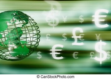 money, global, currency