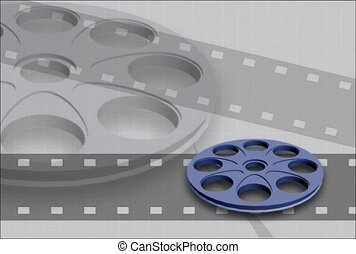 cinema, background, film reel