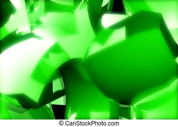 glare, metallic, green