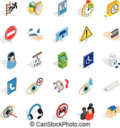 Relief icons set, isometric style - Relief icons set....