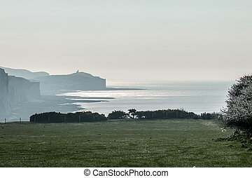April Morning and Belle Tout - Belle Tout Lighthouse from...