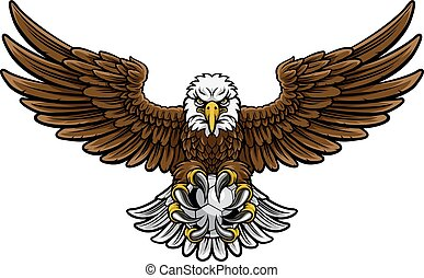 Eagle Soccer Football Mascot - An eagle angry animal sports...