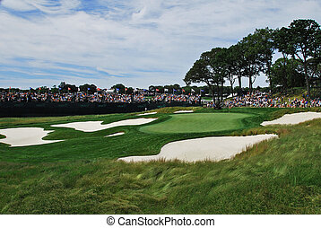 Championship par 3 - the par 3 17th at the US Open at...