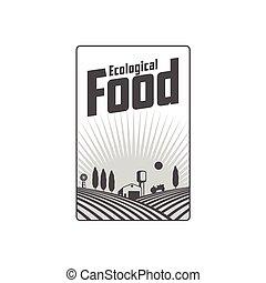 Vertical farm fireld logo, badge, label design