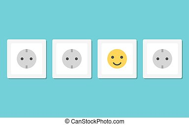 Positive smiling plug socket