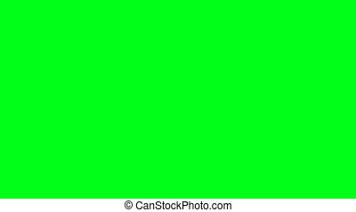 Falling colored balls background with green screen. 3d...