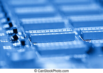Electronic circuit board - Close up shot of ICs on...