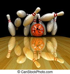 Orange ball does strike Physically correct simulation of...