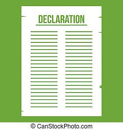 Declaration of independence icon green