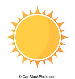 Yellow sun icon vector illustration