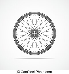 Bicycle wheel icon. Vector illustration. - Bicycle wheel...