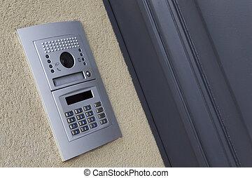 Intercom on a facade - Modern intercom on the facade of a...