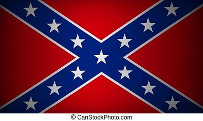 Confederate Flag - 4K Flag of the Confederacy Waving in the...