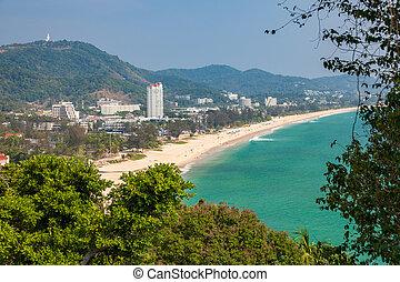 The Karon Beach, Phuket, Thailand - Daytime view of the...