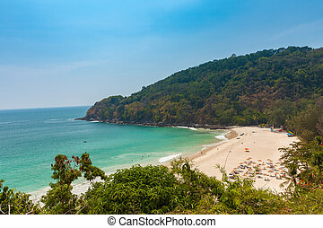 The Karon Noi Beach, Phuket, Thailand - Daytime view of the...