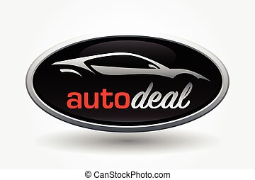 Sports car vehicle silhouette badge design
