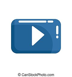 video play button. Internet or youtube button. Colorful...