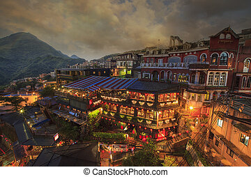 Hillside store in Jiufen, Taiwan's most famous tourist...