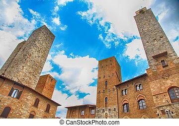 medieval San Gimignano, Tuscany, Italy