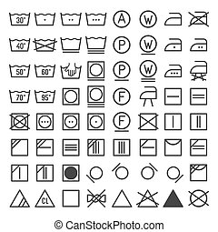 Laundry and Washing Icon Set. Vector