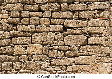 fortress wall jousting - a fragment of the fortress wall...