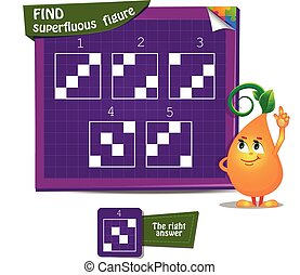 Find superfluous figure game - Visual Game for children and...