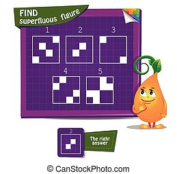 game Find superfluous figure - Visual Game for children and...