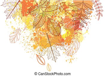 autumnal leaves - Splashes and autumnal leaves