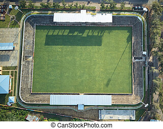 Avobe view on soccer field - Avobe view on soccer green...